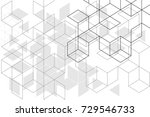 abstract boxes background | Shutterstock .eps vector #729546733
