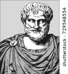 aristotle. vector portrait of... | Shutterstock .eps vector #729548554