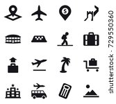 16 vector icon set   pointer ... | Shutterstock .eps vector #729550360