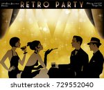 the party at the bar in the... | Shutterstock .eps vector #729552040