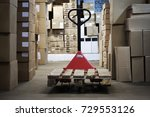 warehouse with goods in boxes... | Shutterstock . vector #729553126