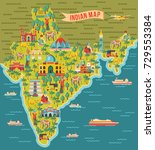 india map. vector illustration | Shutterstock .eps vector #729553384