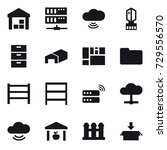 16 vector icon set   warehouse  ... | Shutterstock .eps vector #729556570