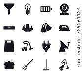 16 vector icon set   funnel ... | Shutterstock .eps vector #729561124