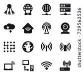 16 vector icon set   share ... | Shutterstock .eps vector #729563536