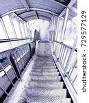 old iron ladder art lined design | Shutterstock . vector #729577129