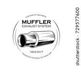 car exhaust pipe. muffler...   Shutterstock .eps vector #729577600