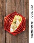 yellow pepper stuffed with... | Shutterstock . vector #72957832