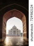 view from taj mahal mosque ... | Shutterstock . vector #729582124