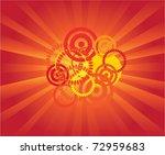 Vector Sunburst Background Wit...