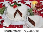 traditional iced christmas cake ...