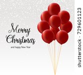 merry christmas card bundle of... | Shutterstock .eps vector #729601123