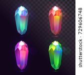 vector set of crystals  magic...   Shutterstock .eps vector #729606748