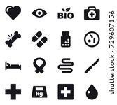 16 vector icon set   heart  eye ...   Shutterstock .eps vector #729607156