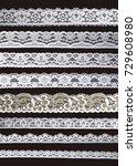 white ornamentation lace... | Shutterstock . vector #729608980