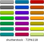 a lot of buttons. vector... | Shutterstock .eps vector #7296118
