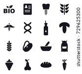 16 vector icon set   bio ...   Shutterstock .eps vector #729625300