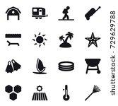 16 vector icon set   barn ... | Shutterstock .eps vector #729629788