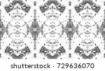 black and white mosaic pattern... | Shutterstock . vector #729636070