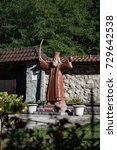 Small photo of Statua of the Hadzi (Pilgrim) Melentius Stefanovic (c. 1766-1824) abbot of the monastery and a leader in the First Serbian rebellion