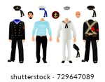 sailors uniform set  isolated... | Shutterstock .eps vector #729647089