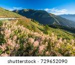 beautiful autumn scenery in... | Shutterstock . vector #729652090