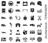 maintenance icons set. simple... | Shutterstock . vector #729653059