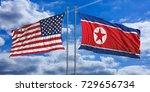 north korea and usa. north... | Shutterstock . vector #729656734