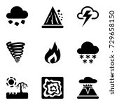 vector black icons set with... | Shutterstock .eps vector #729658150