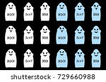 cartoon ghost with smile ... | Shutterstock .eps vector #729660988