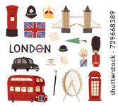 london travel icons english set ... | Shutterstock .eps vector #729668389