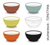 chinese utensil illustration... | Shutterstock .eps vector #729677446