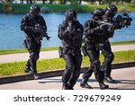 special forces tactical team of ... | Shutterstock . vector #729679249