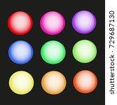 abstract vector web buttons set ... | Shutterstock .eps vector #729687130