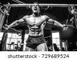 brutal handsome caucasian... | Shutterstock . vector #729689524
