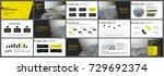 yellow presentation templates... | Shutterstock .eps vector #729692374