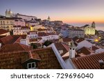 lisbon alfama sunrise | Shutterstock . vector #729696040