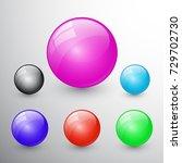 vector illustrations of glossy... | Shutterstock .eps vector #729702730