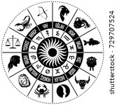 astrological signs. vector... | Shutterstock .eps vector #729707524