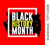 Black History Month Logo Vecto...