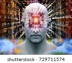 mind processor series. 3d... | Shutterstock . vector #729711574