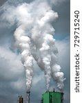 factory pollution   Shutterstock . vector #729715240