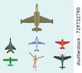 vector airplane illustration...   Shutterstock .eps vector #729732790