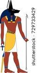 vector anubis  an ancient...   Shutterstock .eps vector #729733429