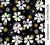 small floral pattern. cute... | Shutterstock .eps vector #729739108