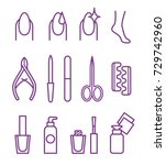 nail beauty spa manicure vector ... | Shutterstock .eps vector #729742960
