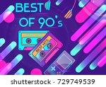 vector vibrant template for dj... | Shutterstock .eps vector #729749539