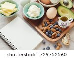 keto  ketogenic diet with... | Shutterstock . vector #729752560