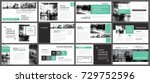 green presentation templates... | Shutterstock .eps vector #729752596