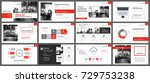 red presentation templates and... | Shutterstock .eps vector #729753238
